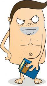 Hombre con condilomas