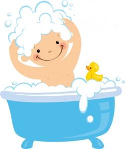 niño baño