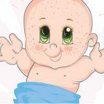 Granitos en la cara del recién nacido: engordaderas (acné neonatal)